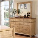 Winners Only Quails Run Dresser and Mirror Set - Item Number: BQW1006+9
