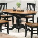"""Winners Only Quails Run 57"""" Round Pedestal Table - Item Number: DQ14257AE"""