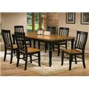 Winners Only Quails Run 7 Piece Dining Table and Chair Set - Item Number: DQ14278AE+6x52SAE