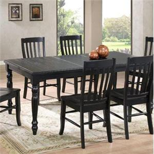 Winners Only Quails Run Rectangular Leg Table