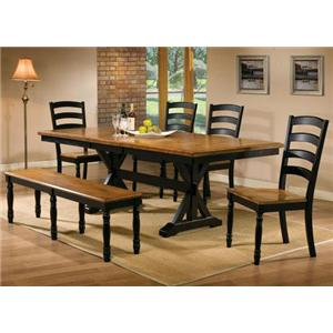 Winners Only Robins Lane 6 Piece Dining Table, Chair and Bench Set