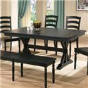 """Winners Only Quails Run 84"""" Dining Table - Item Number: DQ14284E"""