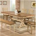 """Winners Only Quails Run 84"""" Dining Table - Item Number: DQ14284W"""