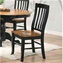 Winners Only Quails Run Slat Back Side Chair - Item Number: DQ1452SAE