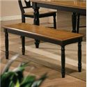 """Winners Only Quails Run 48"""" Dining Bench - Item Number: DQ1455AE"""