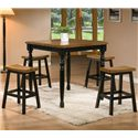 Winners Only Quails Run 5 Piece Tall Table and Barstool Set - Item Number: DQT13636AE+4x145724AE