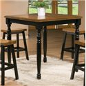 """Winners Only Quails Run 36"""" Square Tall Table - Item Number: DQT13636AE"""