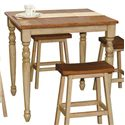 """Winners Only Quails Run 36"""" Square Tall Table - Item Number: DQT13636W"""