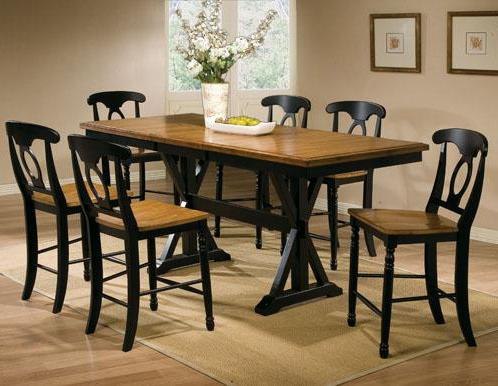 7 Piece Tall Table with Barstools