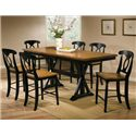 Winners Only Quails Run 7 Piece Tall Table with Barstools - Item Number: DQT13678AE+6x145124AE