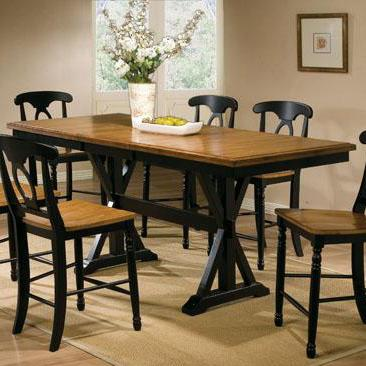 """Winners Only Quails Run 78"""" Tall Table - Item Number: DQT13678AE"""