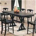 "Winners Only Quails Run 78"" Tall Table - Item Number: DQT13678E"
