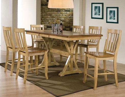 7 Piece Tall Table and Barstool Set