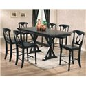 Winners Only Quails Run Transitional Napoleon Barstool - Shown with Tall Double Pedestal Table
