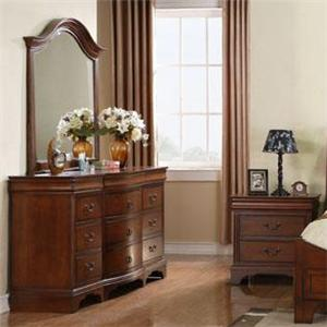 Winners Only Renaissance Twelve Drawer Dresser and Mirror