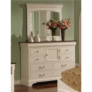 Winners Only Renaissance Ten Drawer Tall Dresser and Mirror