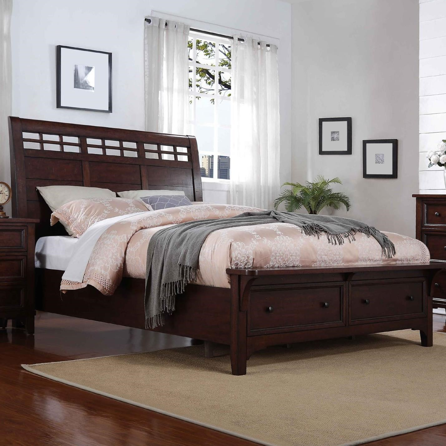 Winners Only Retreat Br1001ks King Sleigh Storage Bed With