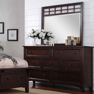 Winners Only Retreat Dresser and Mirror Set