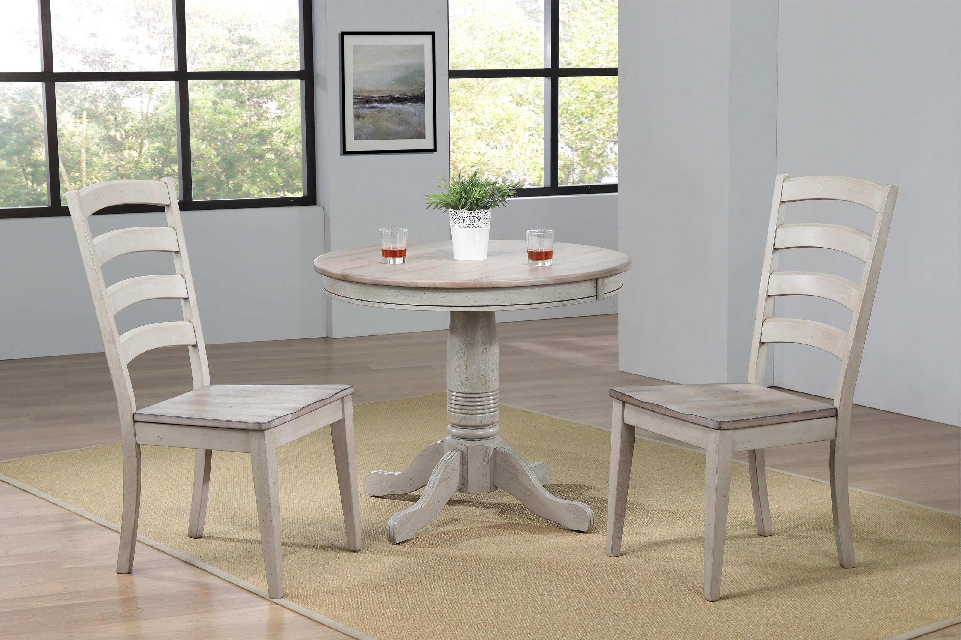 Winners Only Ridgewood 36 Round Table 2 Chairs Reeds Furniture