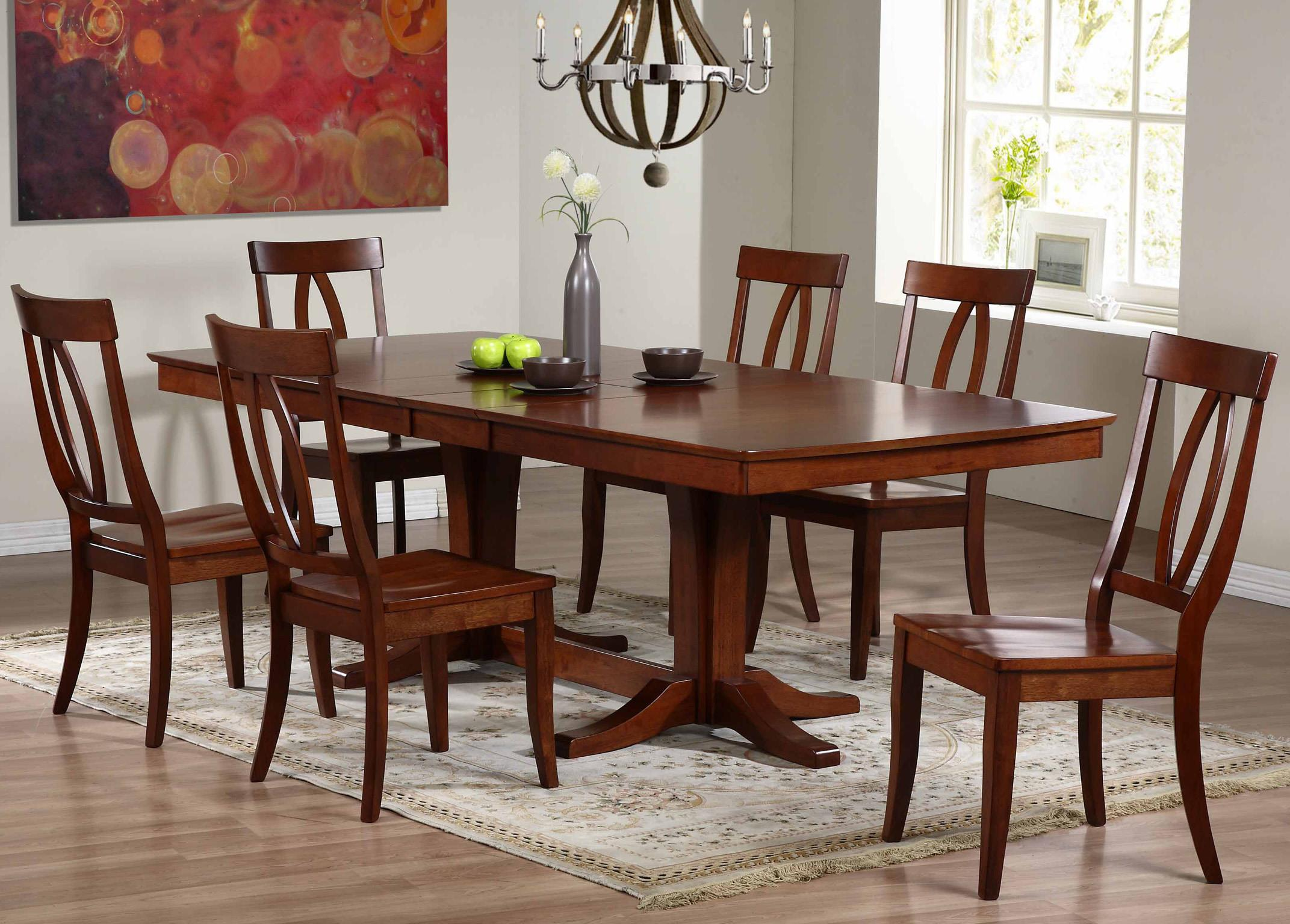 Beau Winners Only Santa Barbara SBF 7 Piece Dining Set With Keyhole Back Chairs    Item Number