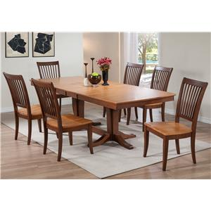 Winners Only Santa Barbara 7 Piece Dining Set