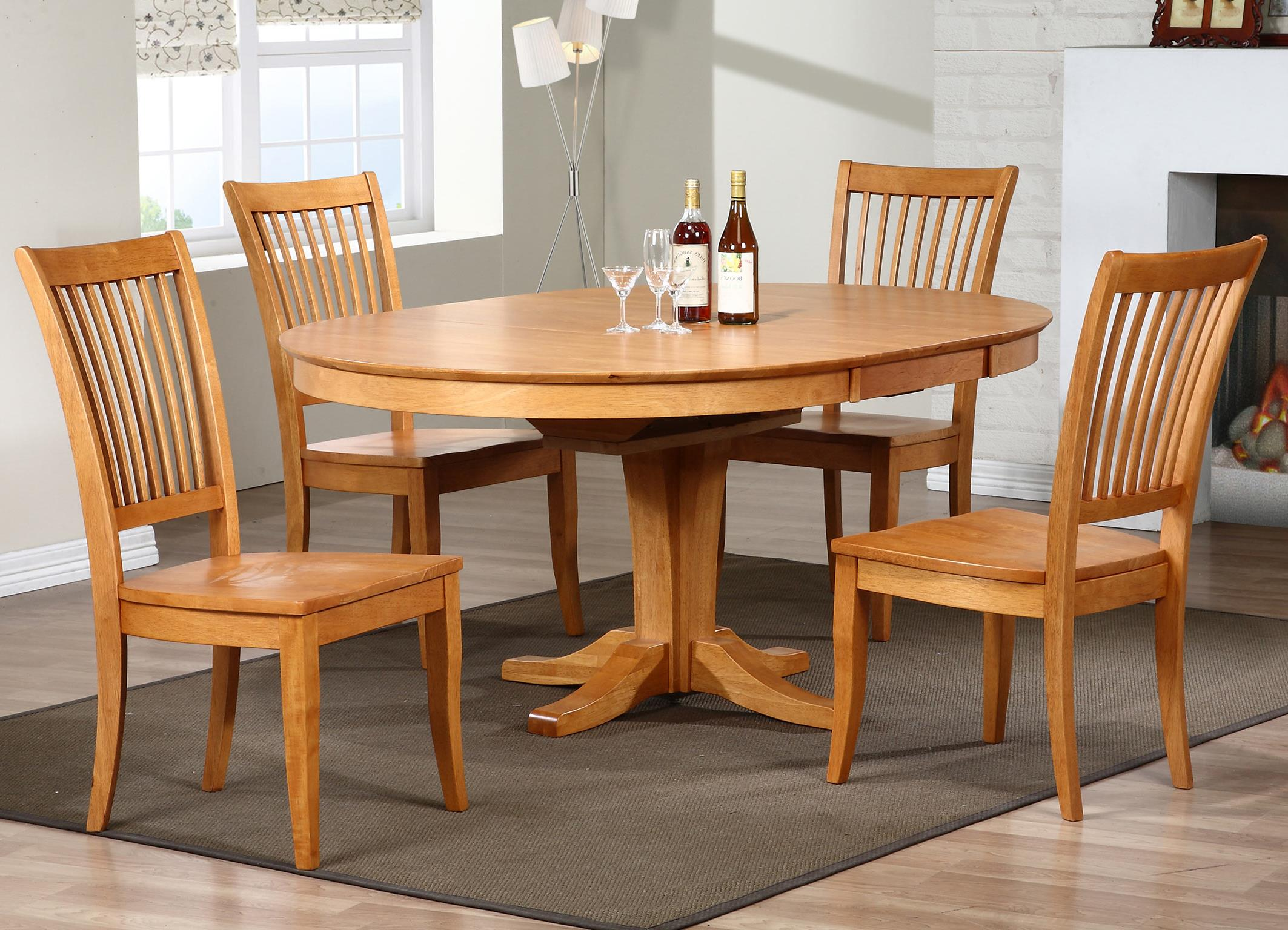 Winners Only Santa Barbara SBF 5 Piece Dining Set With Slat Back Chairs    Item Number