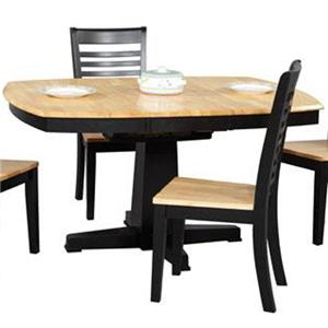 Winners Only Santa Fe   Ebony Single Pedestal Dining Table