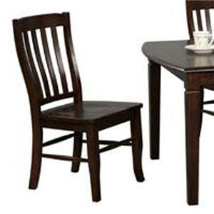 Winners Only Santa Fe   Chocolate Rake Back Chair