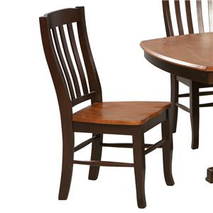 Winners Only Santa Fe - Chestnut/Espresso Rake Back Chair