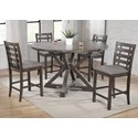 Winners Only Stratford 5-Piece Counter Height Dining Table Set - Item Number: DST36060+4xDST345124