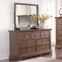Winners Only Tamarack Dresser and Mirror Set - Item Number: BTH1006Y+1009