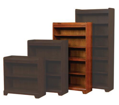 "Winners Only Topaz  60"" Open Bookcase - Item Number: GT23260B"