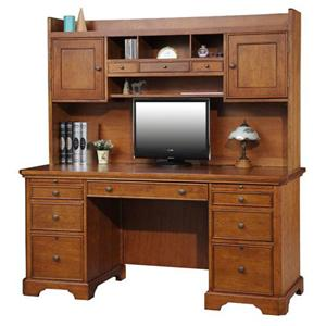 Winners Only Topaz  Double Pedestal Desk and Hutch
