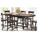 "Winners Only Torrance 84"" Tall Table with 18"" Leaf - Item Number: DTT33684SE"
