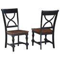 Winners Only Torrance X-Back Side Chair - Item Number: DT3450SSE