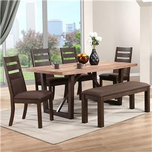 Winners Only Venice 6 Piece Dining Set with Bench