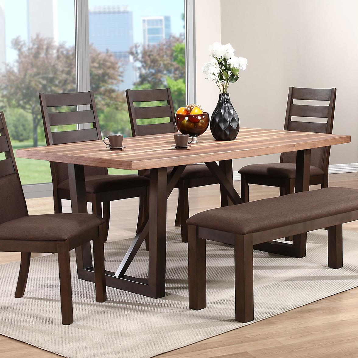 Trestle Dining Room Table: Troyer Two-Tone Rectangular Trestle Table