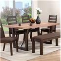 Winners Only Venice Trestle Table - Item Number: DV2472B+35383T