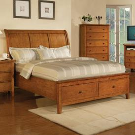 Winners Only Vintage Queen 2-Drawer Storage Bed - Item Number: BV1001QHS+FS+RS