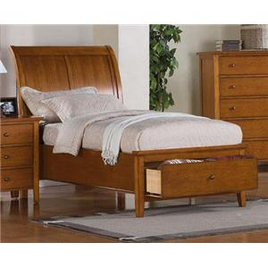 Winners Only Vintage Twin 1-Drawer Storage Bed