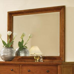 Winners Only Classic Cognac Rectangular Dresser Mirror