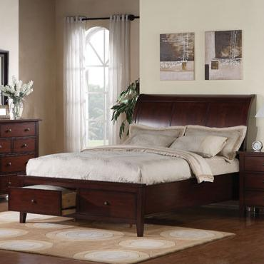Queen 2-Drawer Storage Bed