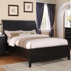 California King 2-Drawer Storage Bed