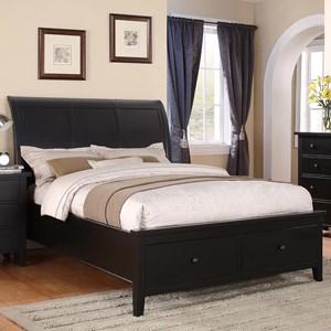 King 2-Drawer Storage Bed