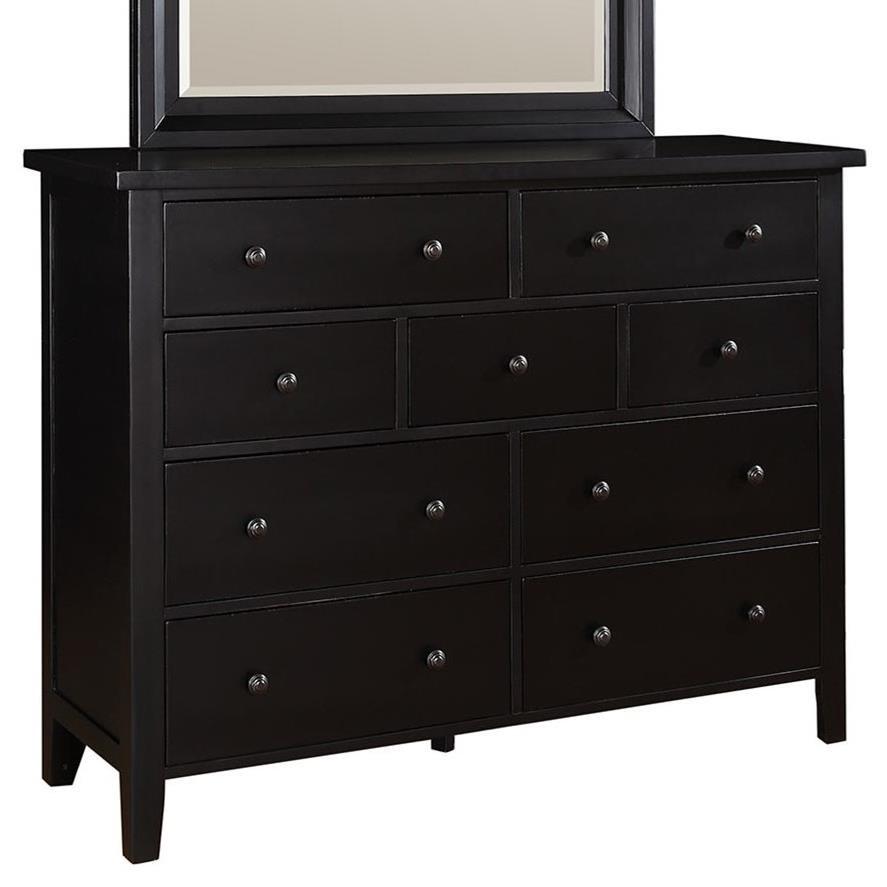 Classic Ebony 9 Drawer Dresser Rotmans Dressers