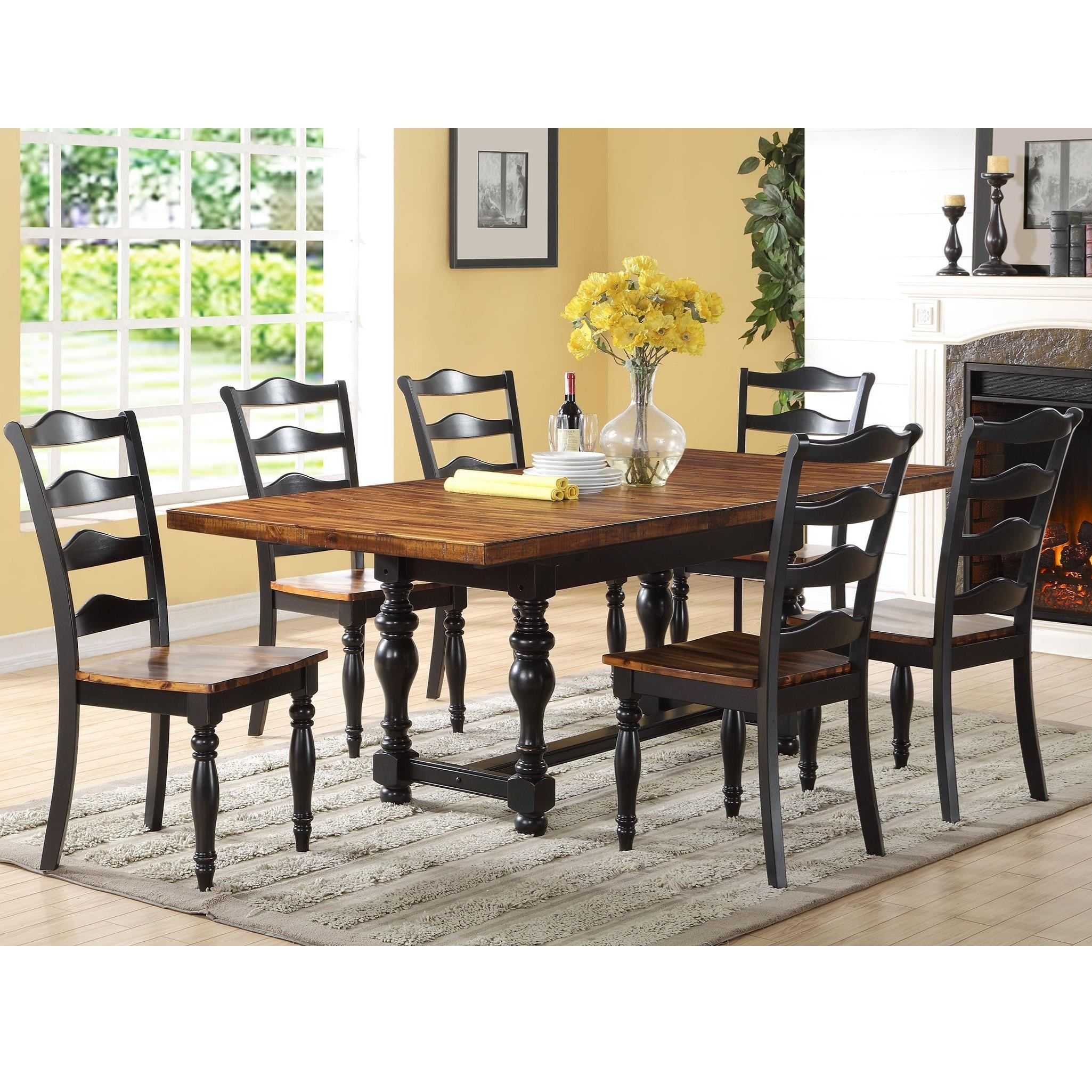 Where Is Winners Only Furniture Made: Winners Only Weston 7 Piece Dining Set With Trestle Table