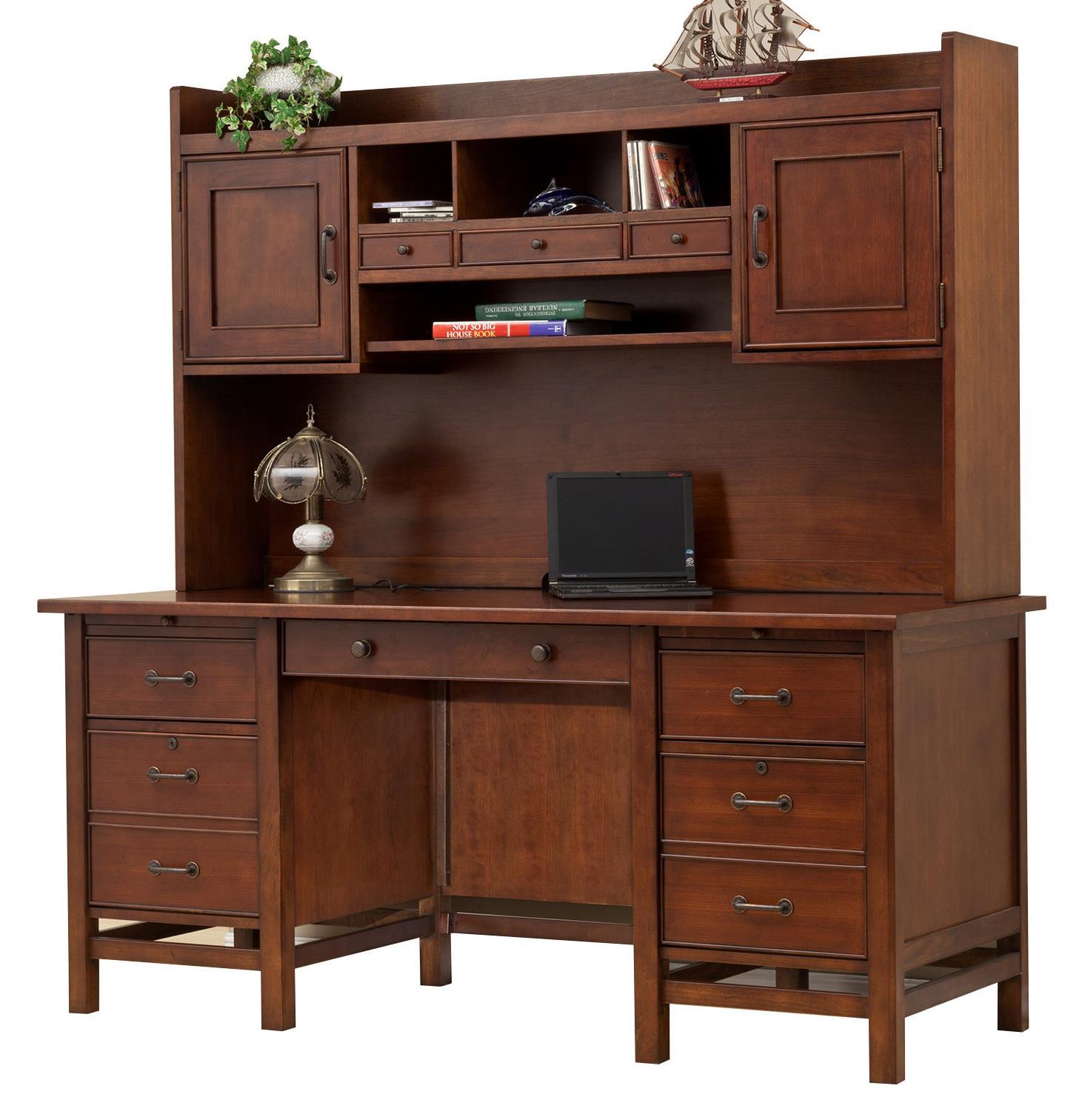 """66"""" Flattop Desk and 63"""" Hutch"""