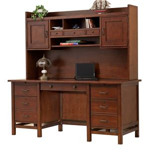 "66"" Flattop Desk and 63"" Hutch"