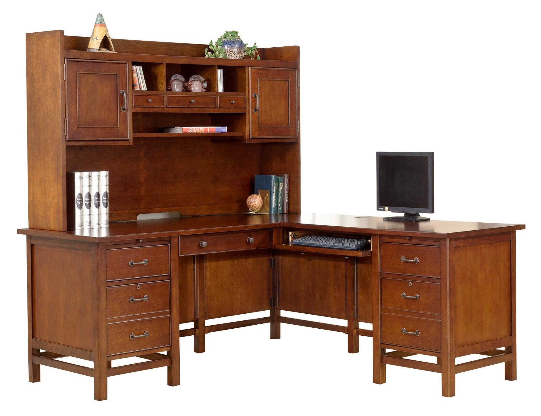 """68"""" Desk with 43"""" Return and 63"""" Hutch"""