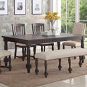 Winners Only Xcalibur Rectangular Dining Table - Item Number: DX1428XB+T